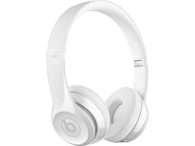 Beats By Dr Dre Solo3 Wireless On Ear Headphones Gloss White Newegg Com