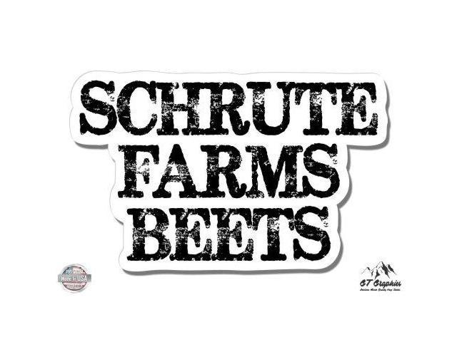 """Schrute Farms Beets The Office 3/"""" Vinyl Sticker For Car Laptop I-Pad Phone"""