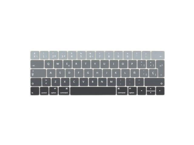 """Spanish Silicone Keyboard Cover Skin For MacBook Pro 13/""""15/""""Touch Bar A1706 A1707"""