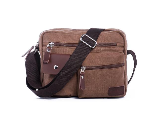brand new cd491 16a80 Men's Multifunctional Rough Canvas Messenger Outdoor Sports Walking Boating  Bag Over Shoulder Crossbody Side Bag Briefcase Sling Bag Fanny Pack ...