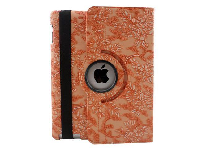 Fancy Flowers Leather Folio Flip Pouch Case Cover Stand Apple iPad 2 3 /& 4