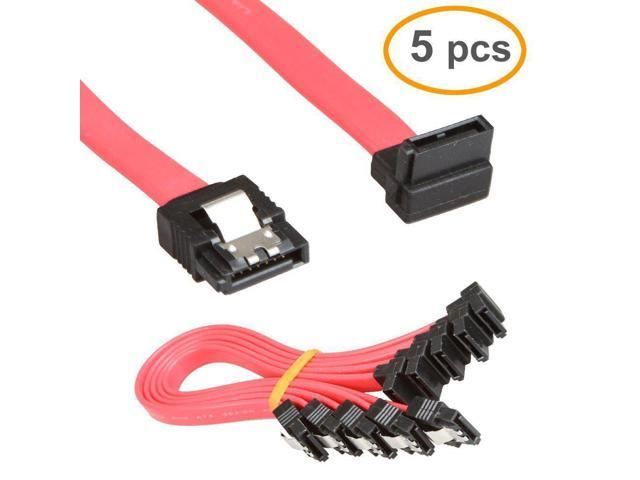 5-Pack CABLES Serial ATA Sata Hard Drive Data Cable Lead
