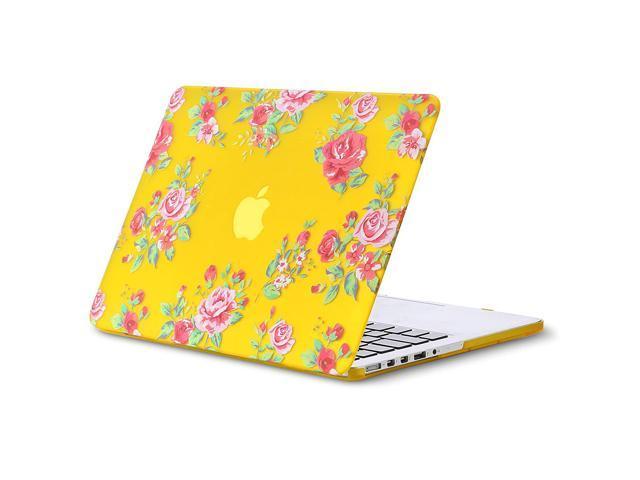 the latest f4960 5f46b Kuzy - Vintage Flowers Rubberized Hard Case for Older MacBook Pro 15.4