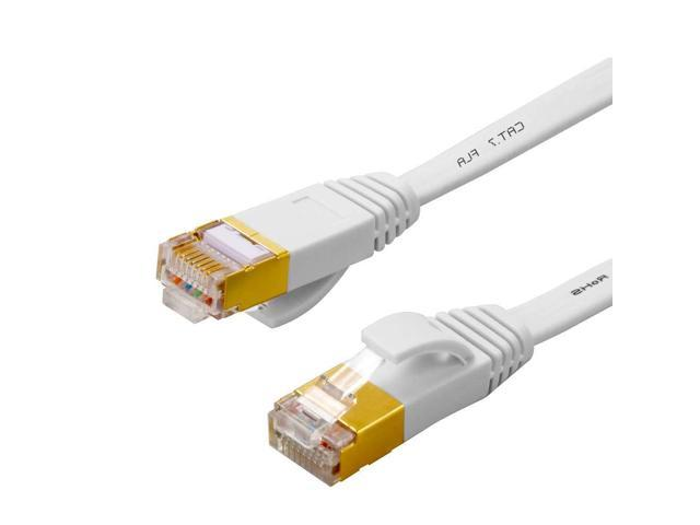 Cat 7 Ethernet Cable 33 ft-Flat Internet Cable High Speed -Cat7 Ethernet  Cord RJ45 Connectors -Network Cable Patch Cord Gold Plated Snagless(33 ft)  - Newegg.comNewegg.com