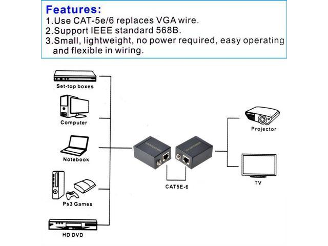 vga extender mactis 197ft vga video extender transmitter