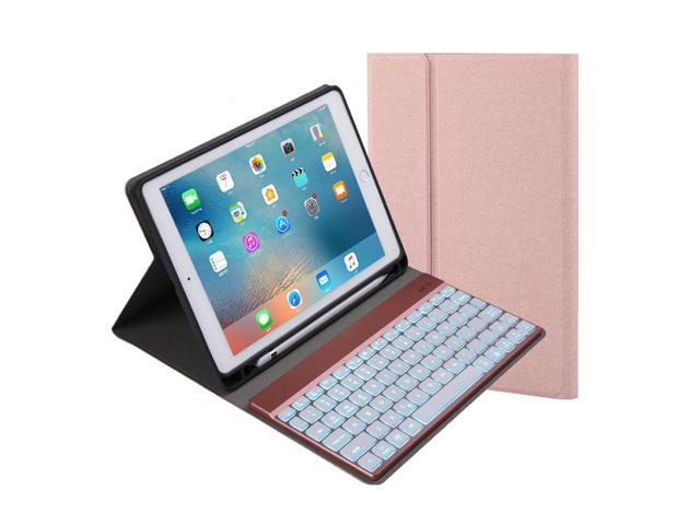 differently af62b 63f83 iPad Pro 10.5 Keyboard Case,7 Colors Backlit with Built-in Apple Pencil  Holder Slim Folio Shell Protective Stand leather Cover Removable Wireless  ...