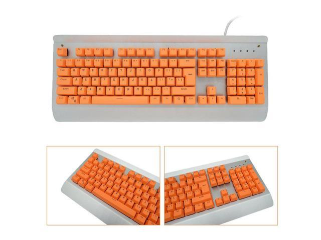 Bossi Backlit Keycaps Mechanical Keyboard Keycaps PBT Doubleshot Keycaps  Replacement Cherry MX Mechanical Keyboard Keycaps with Key Puller - Orange  -