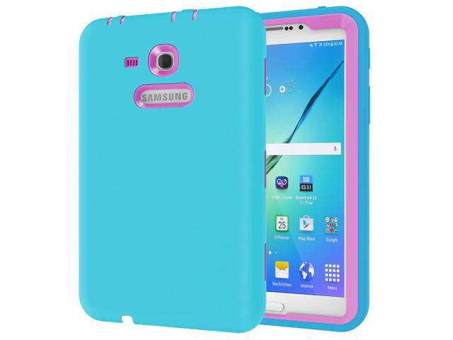 sports shoes f57cc edded Ycxbox Samsung Galaxy Tab E Lite 7.0 Case, Galaxy Tab 3 Lite 7.0  Case,Rugged Heavy Duty Kids Proof Protective Case for SM-T110 / SM-T111 /  SM-T113 / ...