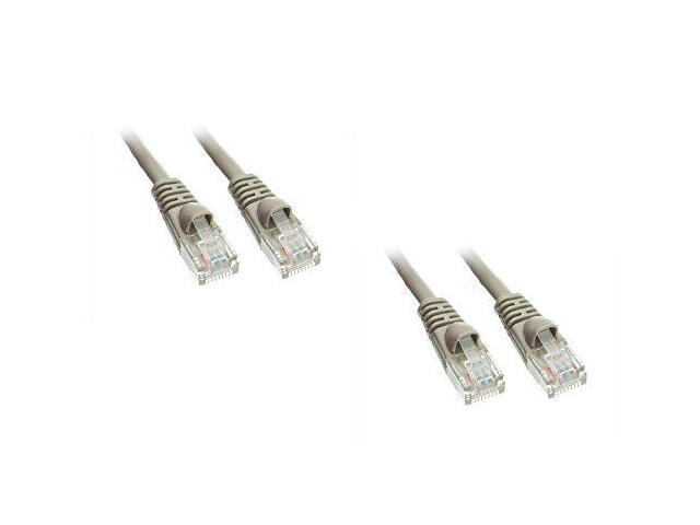 c u0026e 2 pack  cat6a ethernet patch cable  snagless  molded boot  500 mhz  gray  25 feet  cne479939