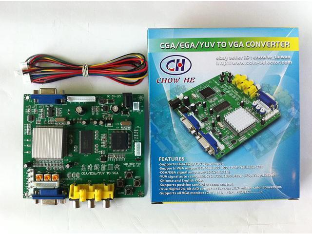 Arcade Game RGB/CGA/EGA/YUV to VGA HD Arcade Game Video Converter Board 1  VGA Output for Arcade Jamma Game Monitor to LCD CRT Monitor PDP Monitor