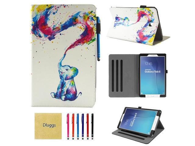 innovative design 91bf3 85c77 Samsung Galaxy Tab E 9.6 Case, SM-T560 Case, Dluggs Slim Fit Lightweight  Protective PU Leather Folio Stand Case with Cards Slots for Galaxy Tab  E/Tab ...