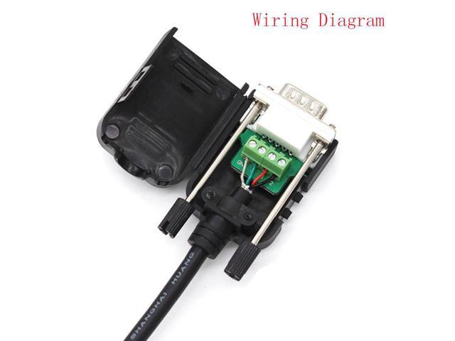 Cables Copapa DB9 9-Pin Male Adapter RS232 Serial to 3 ... on