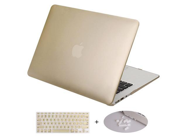 reputable site 7d302 70f08 DWON MacBook Air 11 Inch Case with Keyboard Cover and Dust Plug for Apple  MacBook Air 11 Inch Sleeve Model A1370 and A1465 - Gold - Newegg.com
