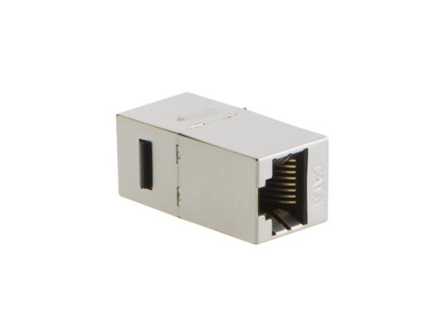 RJ45 Modular E 10-PACK Cat6 Shielded Inline Modular Coupler With Keystone Latch