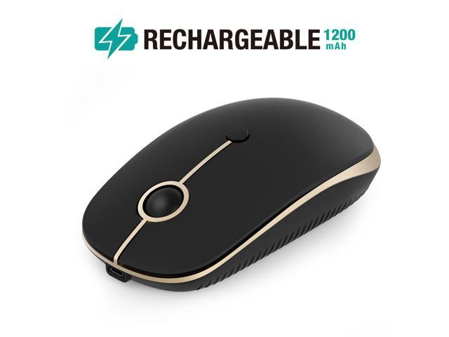 8707161e6a0 Rechargeable Wireless Mouse, Jelly Comb 2.4G Slim Optical Mice - Less  Noise, 3