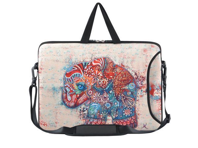 Family of Elephants Meffort Inc 15 15.6 inch Neoprene Laptop Sleeve Bag Carrying Case with Hidden Handle and Adjustable Shoulder Strap