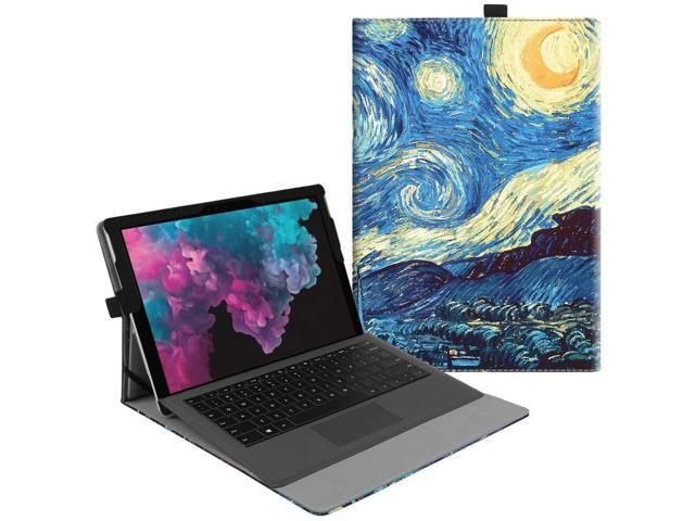 Fintie Case for Microsoft Surface Pro 6 / Pro 5 / Pro 4 / Pro 3 - Multiple  Angle Viewing Portfolio Business Cover, Compatible with Type Cover Keyboard