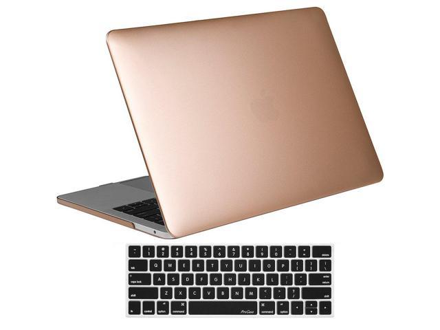 Procase Macbook Pro 15 Case 2018 2017 2016 Release A1990 A1707 Hard Case Shell Cover And Keyboard Cover For Apple Macbook Pro 15 2018 2017 2016 With Touch Bar And Touch Id Gold Newegg Com