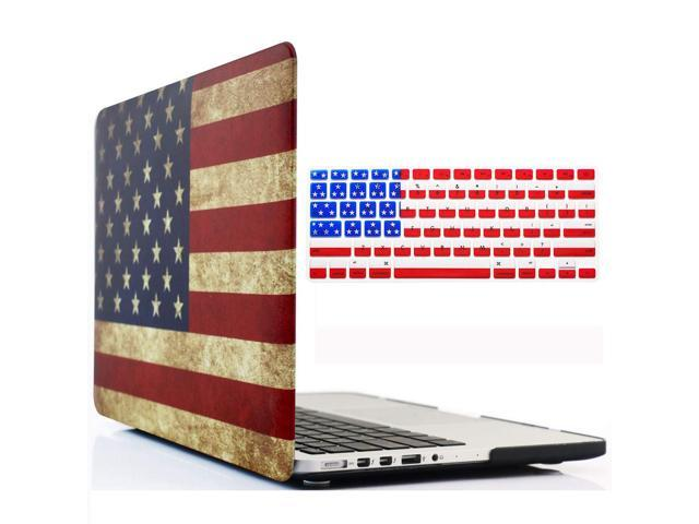 LAPTOP PROTECTIVE SHELL CASE COVER FOR APPLE MAC BOOK PRO USA America FLAG