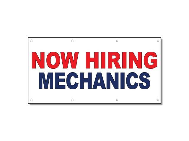 Help Wanted Apply Now Red Blue 13 Oz Vinyl Banner Sign With Grommets