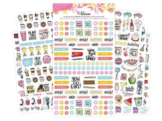 image regarding Daily Planners titled bloom day-to-day planners Contemporary Clic Planner Sticker Sheets - Assortment Sticker Pack - 390 Stickers For every Pack! -