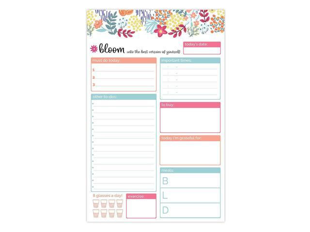 photo regarding Daily Planners identify bloom day-to-day planners Each day Coming up with Method Tear Off toward-Do Pad - 6\