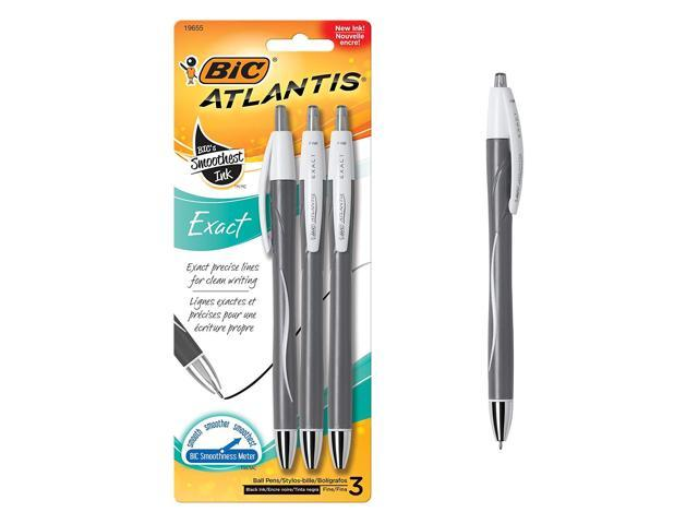 Fine Point BIC Atlantis Exact Fashion Retractable Ballpoint Pen 0.7mm