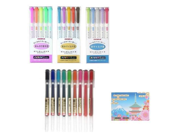 MUJI Gel Ink Ballpoint Pens 0.38mm 9-colors Pack
