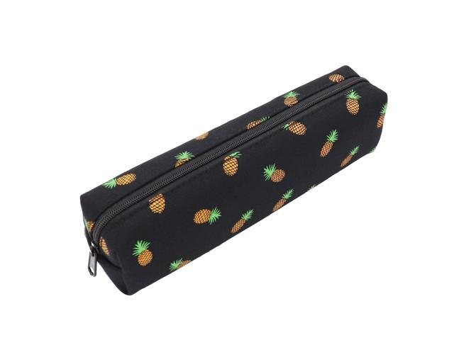 486f11e7a071 Pineapple Pencil Case Zipper Canvas Pen Pouch Bag for Women Girls Kids  Teens (Black) - Newegg.com