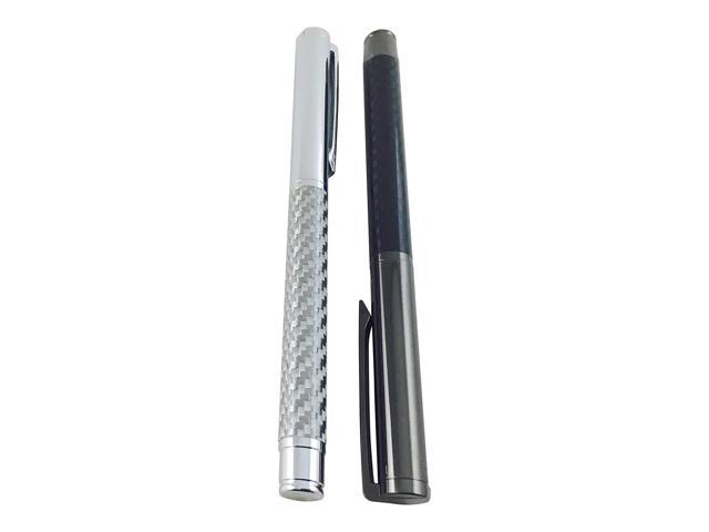Office Business Shoptotum Yin Yang Collection Carbon Fiber Roller Pen Gel Ink Gift box included Best Pen Writing for Men or Women in School Black and Chrome Elegant