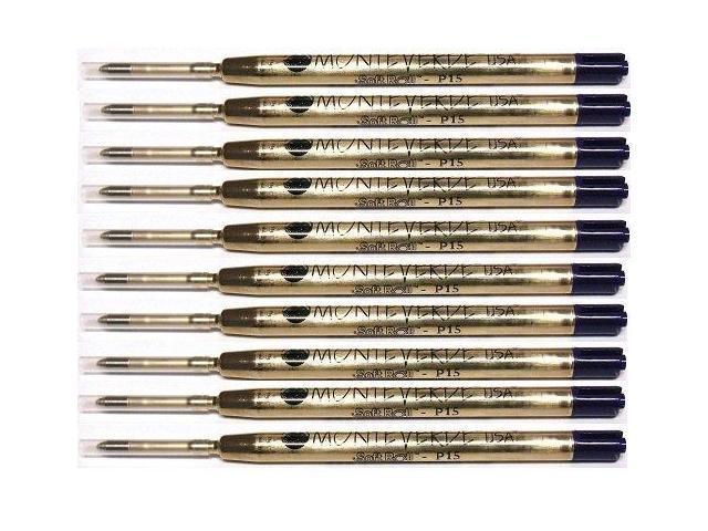SUPER BROAD // BOLD MONTEVERDE Ballpoint Parker Style Pen Refill 10 BLUE