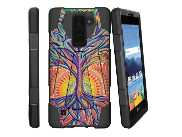 new product d0d08 5324c MINITURTLE Case Compatible w/ LG K8V Case | K8 V Stand Case [SHOCK FUSION]  [Shock Absorption | Impact Resistant] Hybrid Dual Layer Armor Case Cover w/  ...