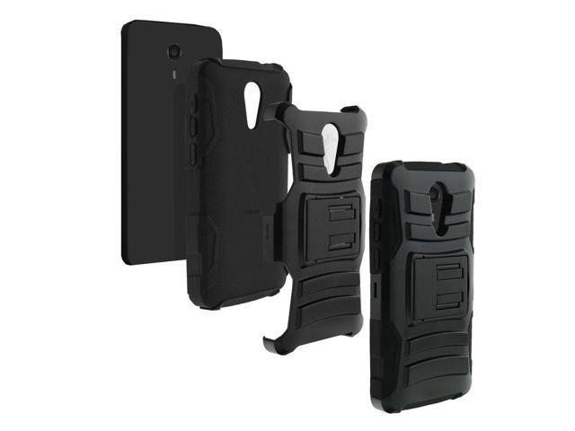 ZTE Uhura Case   ZTE Ultra Case   ZTE Quest Case   N817 [Hyper Shock]  Hybrid Reinforce Dual Layer Case Rubber Holster Belt Clip Stand Ocean Sea  Design