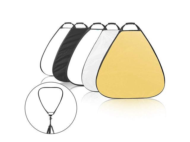 Selens 5-in-1 39.4 Inch Triangle Reflector with Handle for Photography Photo Studio Lighting /& Outdoor Lighting