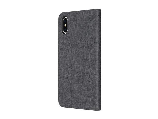 best website c427a 9dcb3 Incipio Carnaby Folio iPhone X Case [Esquire Series] with Card Slot Holder  for iPhone X - Gray - Newegg.com