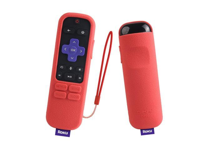 Roku Streaming Stick+ Remote Case SIKAI Shockproof Silicone Protective  Cover for Roku Streaming Stick Plus 3800R / 3810R Enhanced Voice Remote