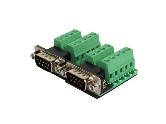 DB9 Breakout DB9 Male Connector RS232 Serial 9 Pin Connector Db9 Terminal  Male with Nut (Pack of 2) - Newegg com