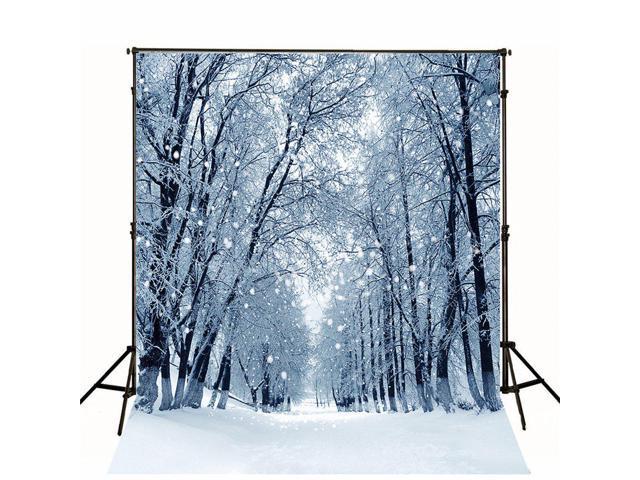 Photography Backdrop 10x10 Winter Wonderland Forest Woods Falling Snowflake Photo Studio Background Christmas