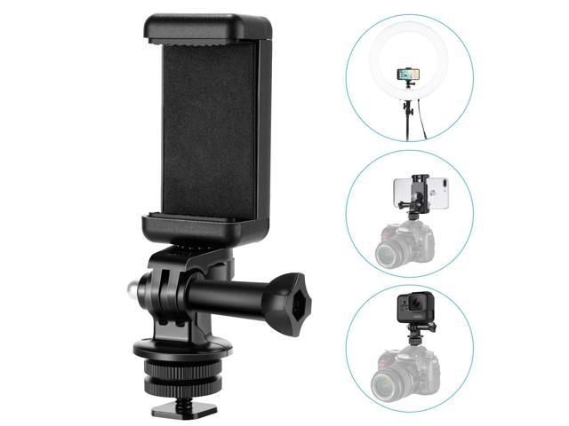 Neewer Phone Holder Camera Hot Shoe Mount Adapter Kit for GoPro Hero 7 6 5,  iPhone X 8 7 6 Samsung Attaching on DSLR Camera or Ring Light Photography