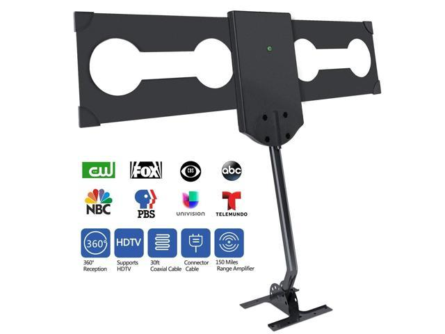 OKAONE 150 Miles Upgraded Outdoor HDTV Antenna - Amplified TV Antenna Free  Channels with RG6 Copper Digital Antenna Omni-Directional Long Range