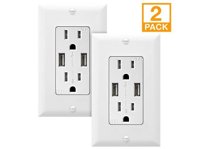 4.8A 24W USB Wall Charger Power Adapter 2 Port 5 VDC
