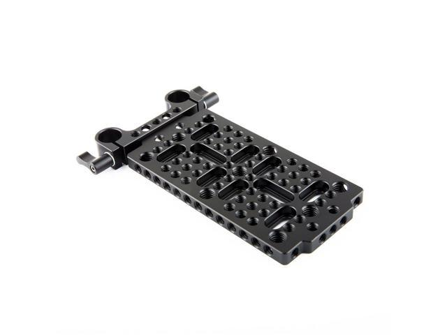 NICEYRIG Cheese Mounting Plate with 15mm Rod Clamp for DSLR Support System Batteries Converter Boxes