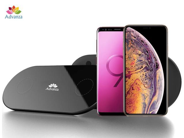 timeless design cf952 570ca Advanza Dual Wireless Qi Charger Double Qi Fast Charging pad Fast Charging  Station for iPhone X 8 Plus XR XS Max Samsung Galaxy Note 9 S9 Android 2 in  ...