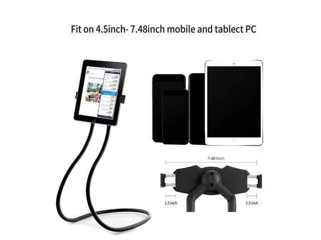 Cell Phone Holder Universal Mobile Phone Stand Lazy Bracket Diy Free Rotating Mounts With Multiple Function Black Vinner Newegg Com