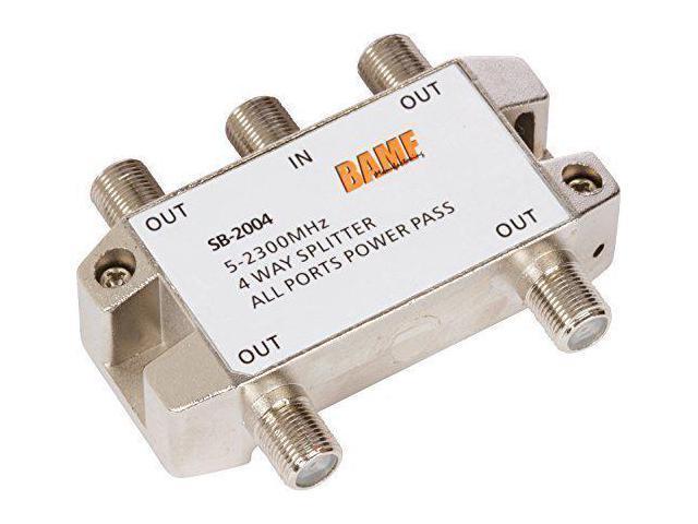 5-2300MHz 4-Way Coax Splitter