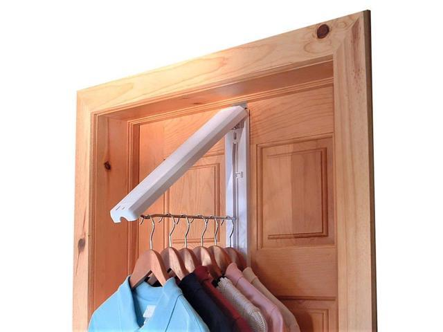 Instahanger The Original Folding Collapsible Wall Mounted Clothes Storage Drying Rack With 12 Ss Hanging