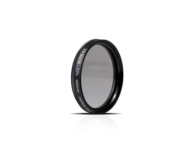 49mm Circular Polarizer Multicoated Glass Filter CPL + Microfiber Cleaning Cloth E Mount for Sony 50mm f//1.8