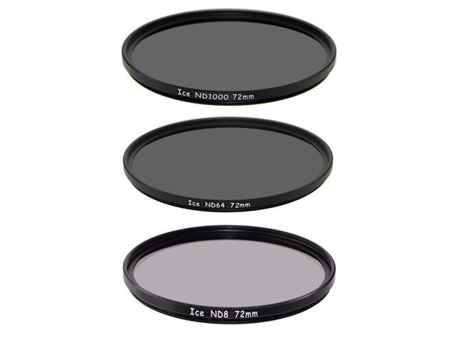 ICE Extreme ND Filter Set 55mm ND100000 ND1000 ND64 Neutral Density 55 16.5,10 6 Stop Optical Glass