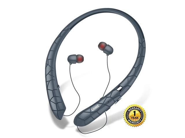 7017bd2b8e0 Bluetooth Headphones LIUHE Wireless Headphones Neckband Retractable Earbuds  Noise Cancelling Stereo Headset Sport Earphones with Mic