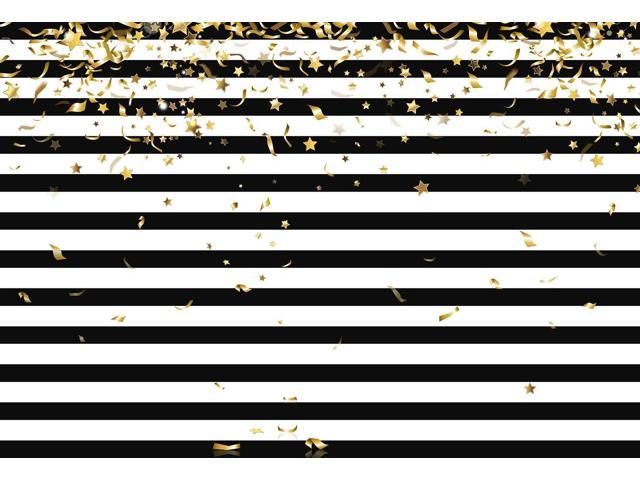 Mehofoto Photo Booth Background Black And White Stripe Christmas Gold Stars Birthday Party Backdrops For Photography 8x6ft Newegg Com